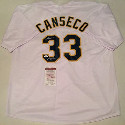 big sale 47267 64e4d Oakland Athletics Jose Canseco Signed White Jersey