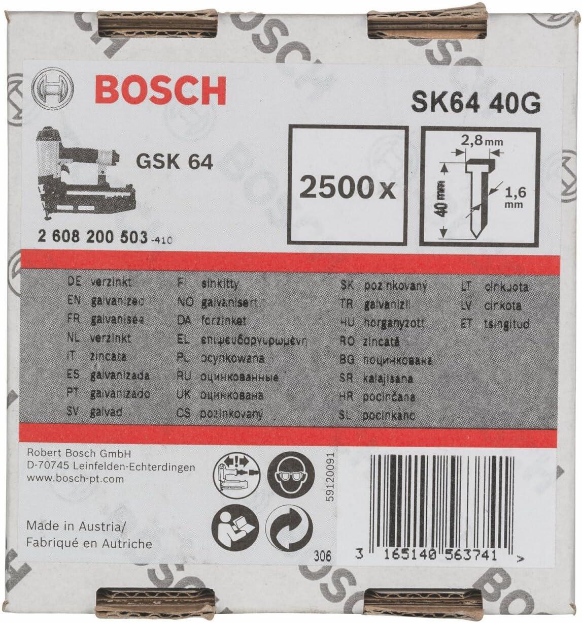 Grey 55 mm Bosch Professional Pointe /à T/ête Frais/ée SK64 55G 1,6 mm