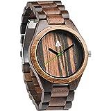Treehut Men's Wooden Watch with All Wood Strap Quartz Analog Premium Quality Wrist Watch
