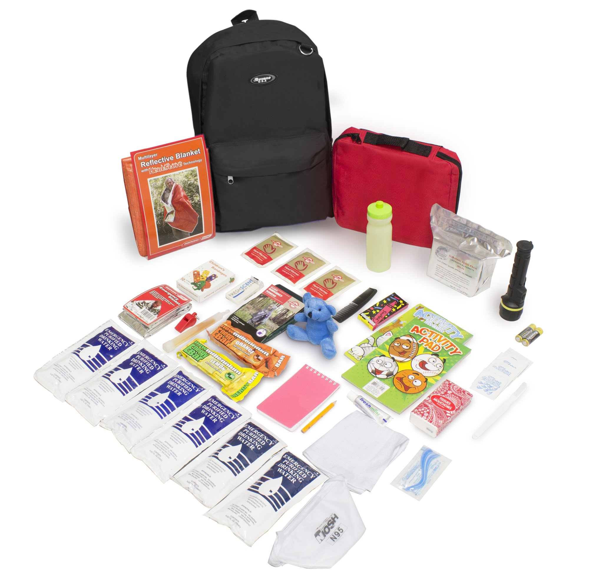 Keep-Me-Safe Children's Deluxe 72-Hr Emergency Survival Kit, Black by Emergency Zone