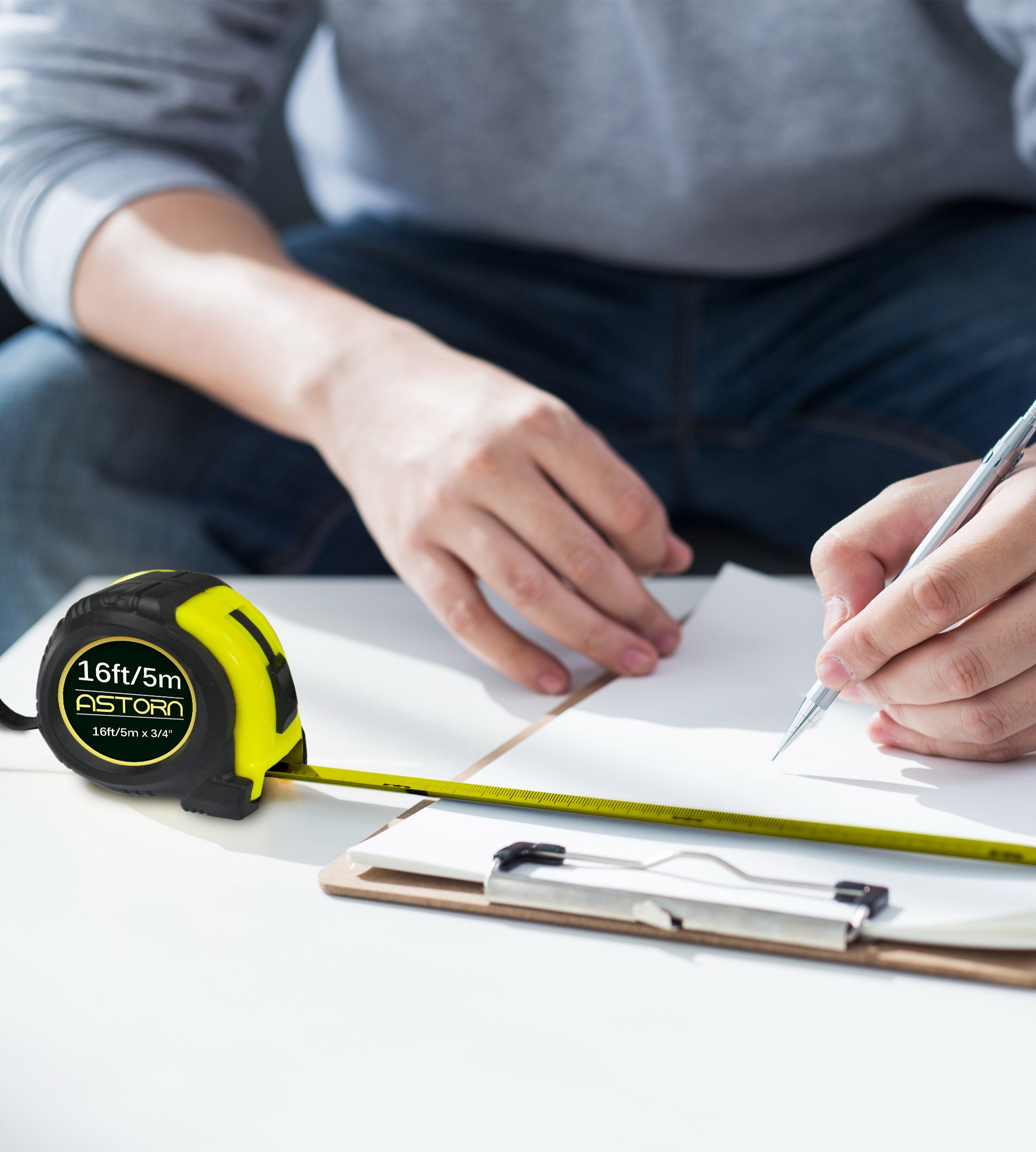 Measuring Tape For Contractors & DIY | Tape Measurer (Cinta Metrica) | Metric & Inches Measuring Tape for Construction | Heavy Duty Tape Measure with Smooth Sliding Nylon Coated Ruler by Astorn by Astorn (Image #7)