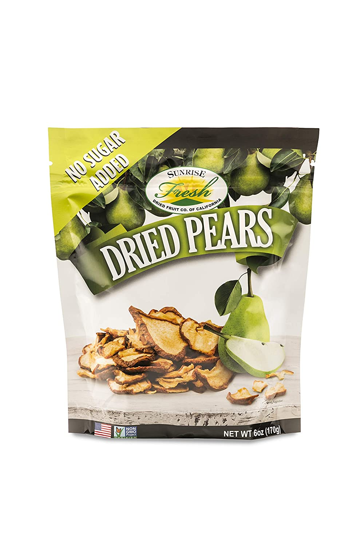 Dried California Pears, Unsweetened, No added sugar, Sunrise Fresh Dried Fruit Co.