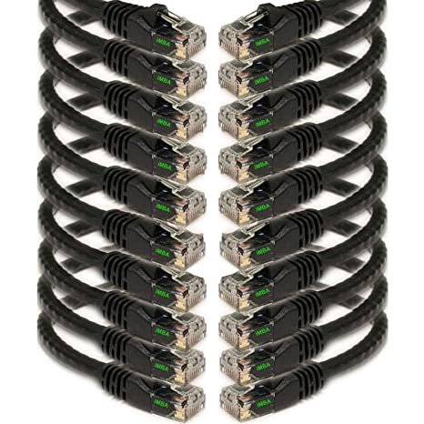 7.5m Cable Length Black Goobay 68686 CAT 6 Patchcable U//UTP