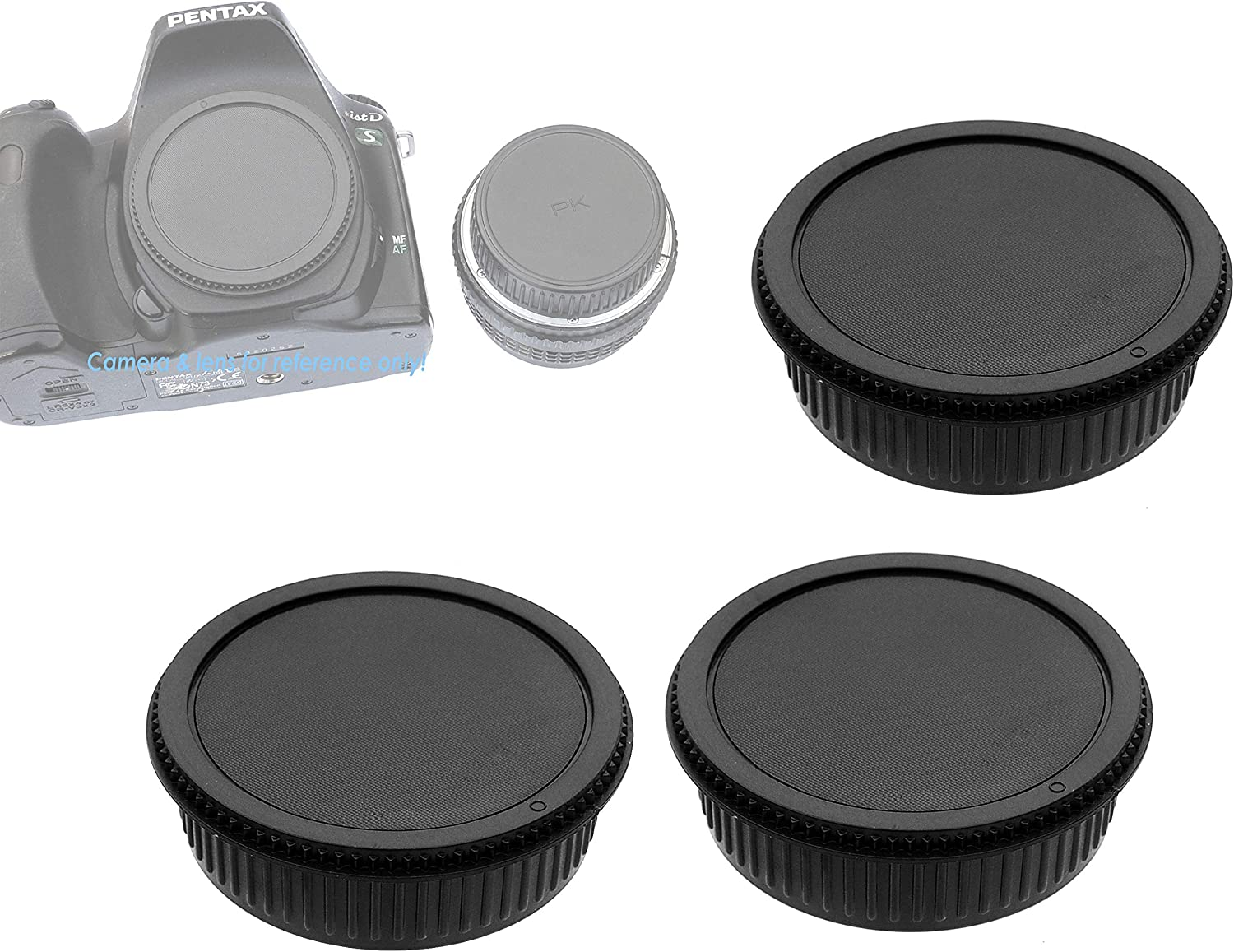 + Lens Cap 58mm Microfiber Cloth Lens Cap Center Pinch for Pentax K-30