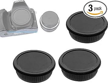 Lens Cap Center Pinch for Pentax K-01 + Lens Cap Microfiber Cloth 49mm