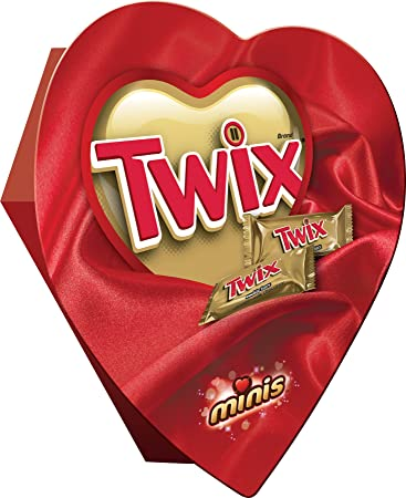 Amazon Com Twix Valentine Caramel Minis Size Chocolate Cookie Bar