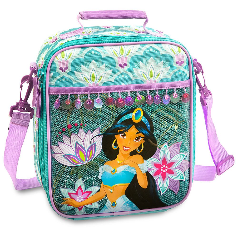 Amazon.com: Disney Store Deluxe Jasmine Backpack and Lunch Box Tote Combo Set Aladdin: Toys & Games