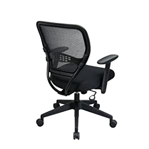 SPACE Seating AirGrid Dark Back and Black Mesh Seat features
