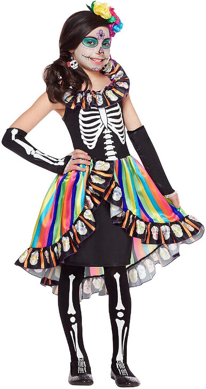 Forever Young Girls Kids Día de los Muertos Disfraz Azúcar Cráneo ...