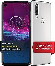 Motorola One Action - Unlocked Smartphone - Global Version - 128GB - Pearl White (US Warranty) - Verizon, AT&T, T-Mobile, Sp