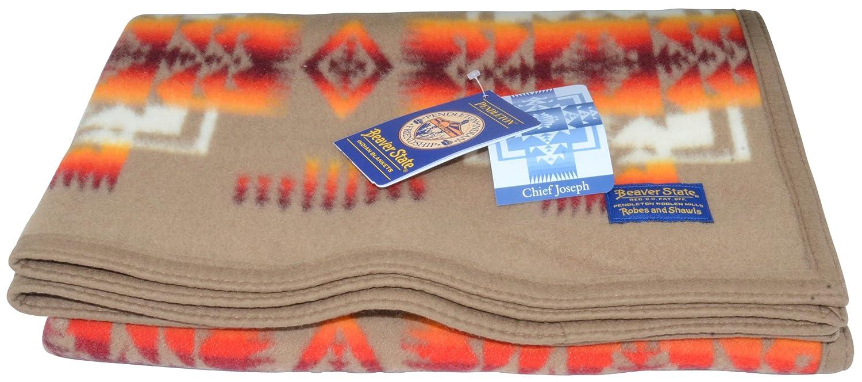 Pendleton Chief Joseph Crib Blanket - Khaki Pendleton Woolen Mills ZD632-TA