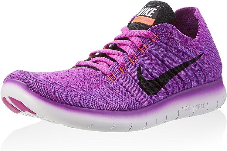 Barriga Bloquear símbolo  Amazon.com | Nike Women's Free Running Motion Flyknit Shoes, Hyper  Violet/Total Crimson/Laser Orange/Black - 7.5 B(M) US | Road Running