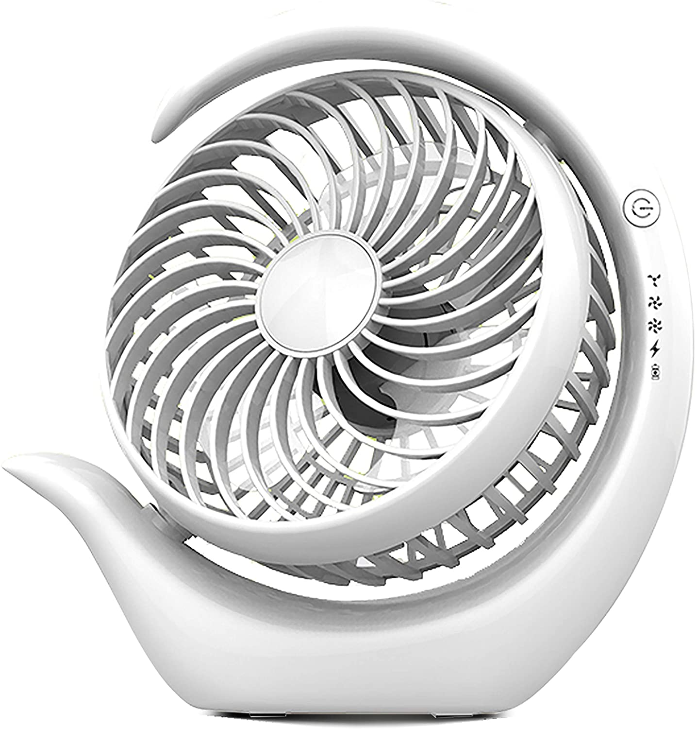 Portable Rotatable Led Light Fan USB Powered Air Cooling Fan Clip On Desk Fans with Three Speeds Wind Via-Tek
