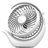 AceMining Rechargeable Battery Operated Fan with 3 speeds, Strong Wind, Long Battery Life, Quiet Operation, Small USB…