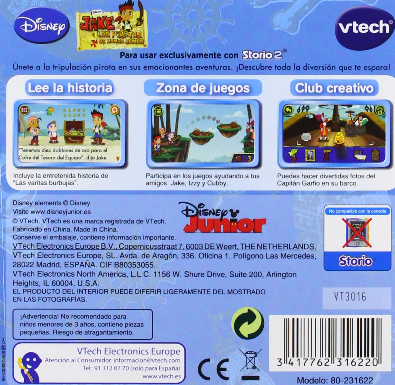 VTech - Juego para Tablet Educativo, Storio, Jake y los Piratas (3480-231622)