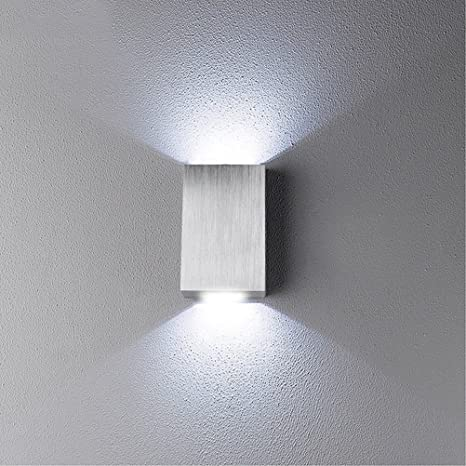 2w modern led wall light up down indoor outdoor sconce lighting lamp