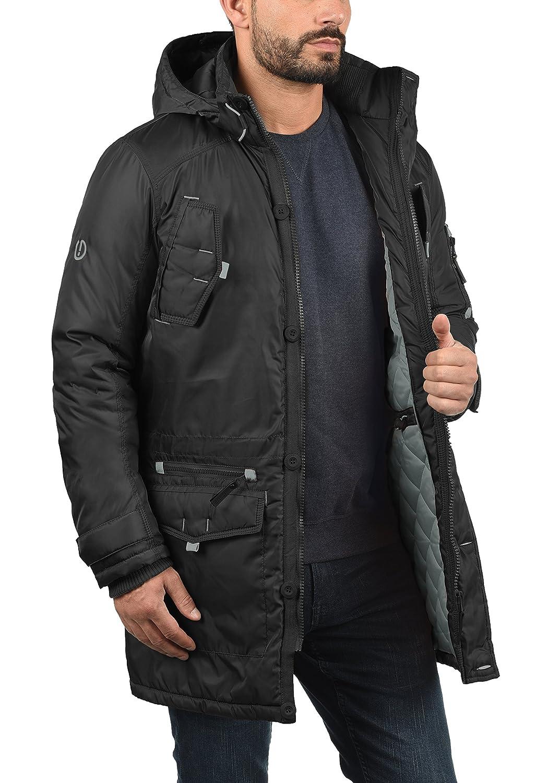 !Solid Betto Parka Abrigo Chaqueta De Invierno con Capucha Efecto Pelo para Hombre con Capucha: Amazon.es: Ropa y accesorios