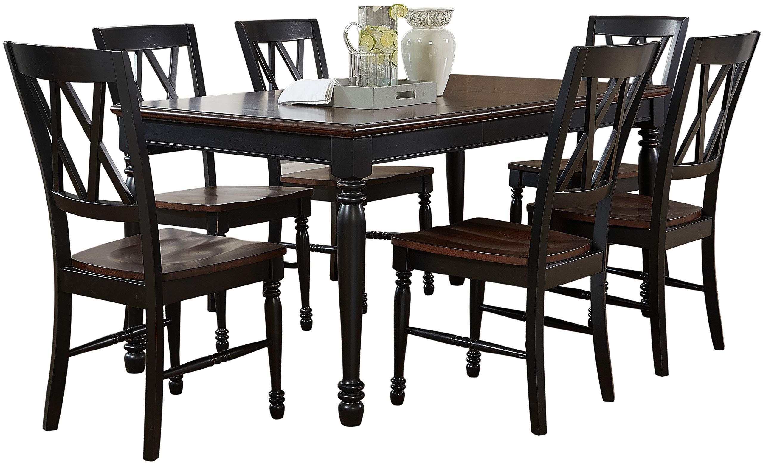 Crosley Furniture KF20001-BK Shelby 7-Piece Dining Set, Black by Crosley Furniture (Image #1)