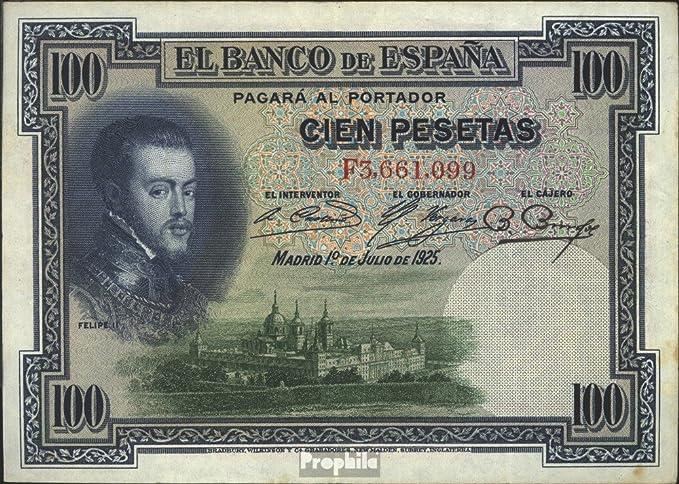 100 Pesetas Banco de España 1925 Felipe II: Amazon.es: Juguetes y juegos