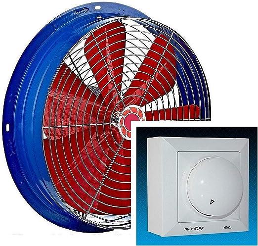 500mm Ventilador con 500W Regulador de Velocidad Ventilación ...
