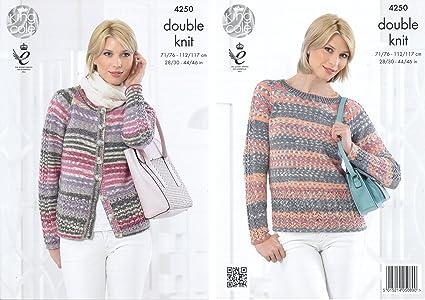 King Cole Ladies Cardigan /& Top Drifter Knitting Pattern 4258 DK