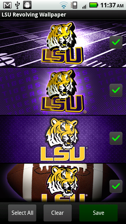 lsu iphone wallpaper lsu tigers revolving wallpaper appstore for 12599