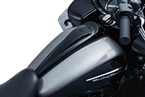 Kuryakyn 5689 Motorcycle Accent Accessory: Signature Series Smooth Dash Console by Jim Nasi for 2008-16 Harley-Davidson Motorcycles, Gloss Black