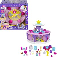 Polly Pocket Birthday Cake Countdown for Birthday Week, Birthday Cake Shape & Package, 7 Play Areas, 25 Surprises, Makes…