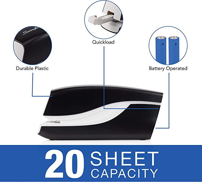 Swingline Automatic Stapler Breeze Colo... 20 Sheet Capacity Battery Powered