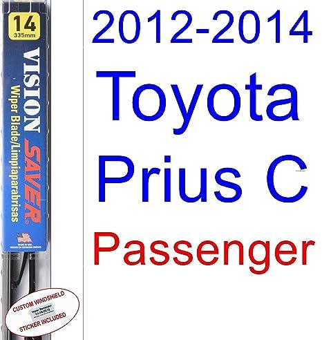 2012 – 2014 Toyota Prius c hoja de limpiaparabrisas de repuesto Set/Kit (Saver