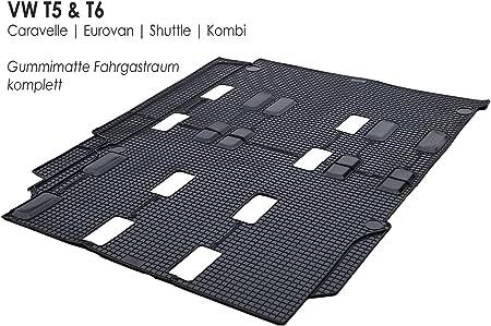 Rubber Mats Suitable For Bus Shuttle Eurovan T5 T6 Original Quality Rubber Floor Mat Rear Passenger Compartment Auto