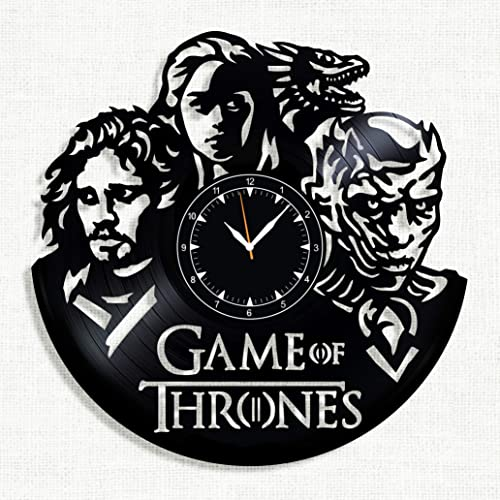 Game of Thrones Vinyl clock – Game of Thrones Wall Clock – Best Gift for Fans Game of Thrones – Original Wall Home Decor