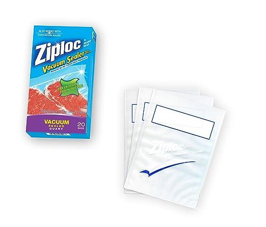 Ziploc bolsas de vacío sello Quart, pack de 20: Amazon.es: Hogar