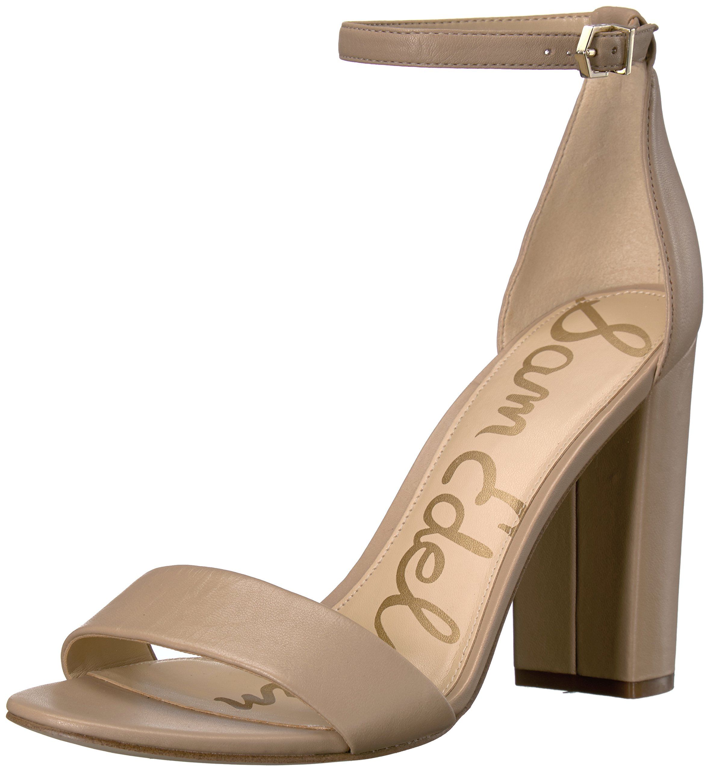 Sam Edelman Women's Yaro Dress Sandal, Classic Nude Leather, 7 M US