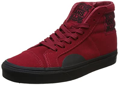 af41bd1d78 Image Unavailable. Image not available for. Color  Vans Style 238 (Native  Suede) Red Black Sz 8.0 Mens  ...