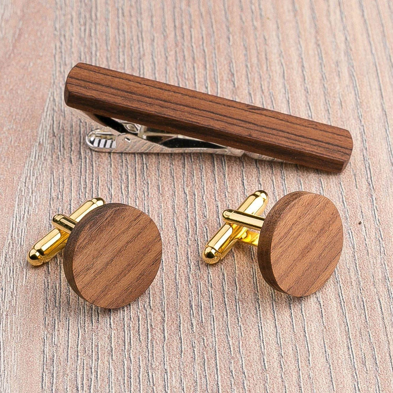 Valentines Gift for Him Personalised Est Engraved Birthday Round Cuff links