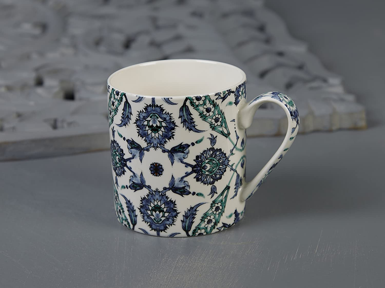 V/&A Arts And Crafts Painted Tiles FINE China Mug