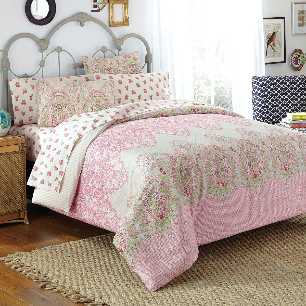 dot pink comforter softness of image and full warmth size polka set