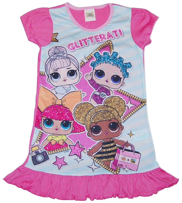 Childrens Girls LOL Nightie Nightdress Gift Sleepwear Nightwear
