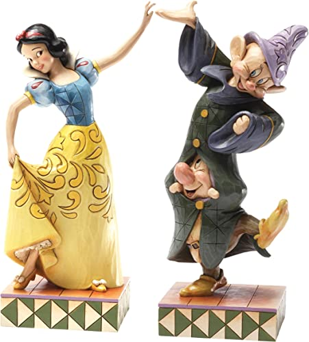 Enesco Disney Traditions by Jim Shore Snow White Dopey and Sneezy Figurine, 9-Inch