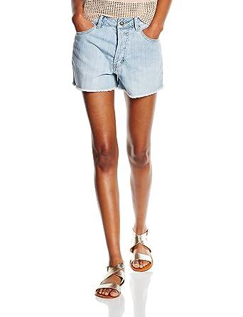 5081912fbf8b Vero Moda Callie, Shorts para Mujer, Azul (Light Blue Denim) 34 ...