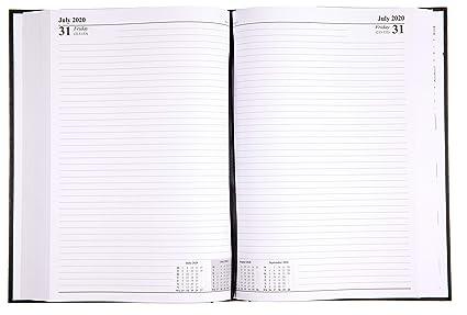 Agenda de escritorio tamaño A4, dos páginas por día, 2020 ...