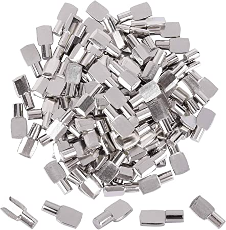 7 mm Shelf Support Pegs Spoon Bookshelf Pins Cabinet Shelves Peg Metal  Bookcase Clips for Kitchen Shelf Holder (100 pcs)