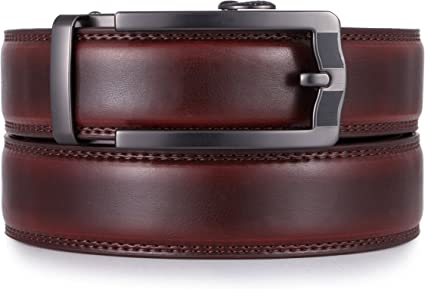 MENS NEW BROWN 1.5/'/' LEATHER BELT WITH SILVER BUCKLE MILANO STRONG SMART CASUAL