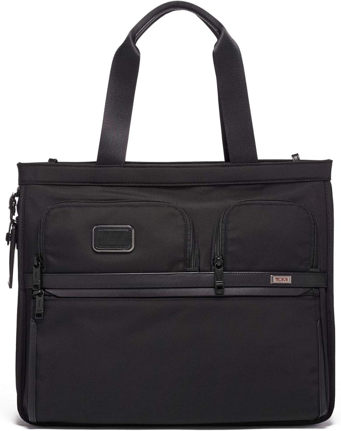 TUMI - Alpha 3 Expandable Tote - Organizer Travel Satchel Bag for Men and Women - Black