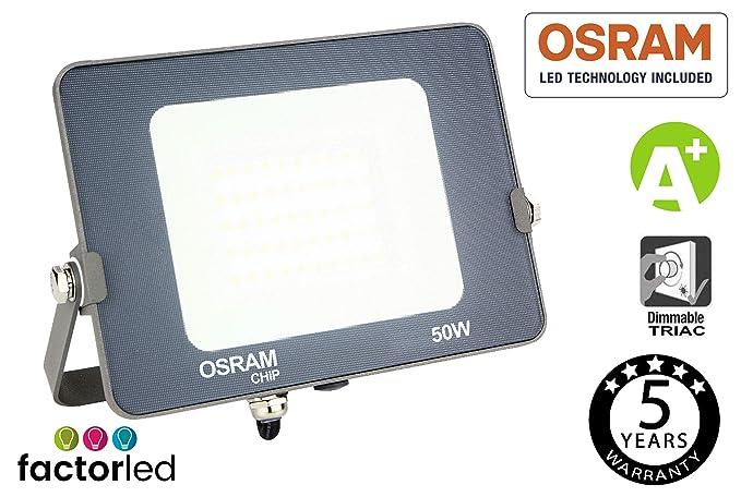 FactorLED Proyector LED 50W Osram, Foco Led Avance SMD Chip OSRAM ...
