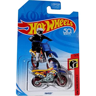 Hot Wheels 2020 50th Anniversary HW Daredevils HW450F (Dirt Bike), Yellow: Toys & Games