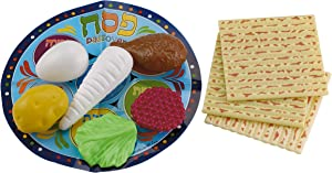 Rite Lite Toy Passover Plastic Seder Food Set- Decorations For Pesach Holiday