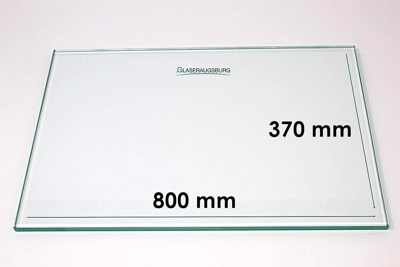 Klarglas 4 mm stark Glasplatte//Glasregal alle Ma/ße lieferbar 800 mm x 370 mm