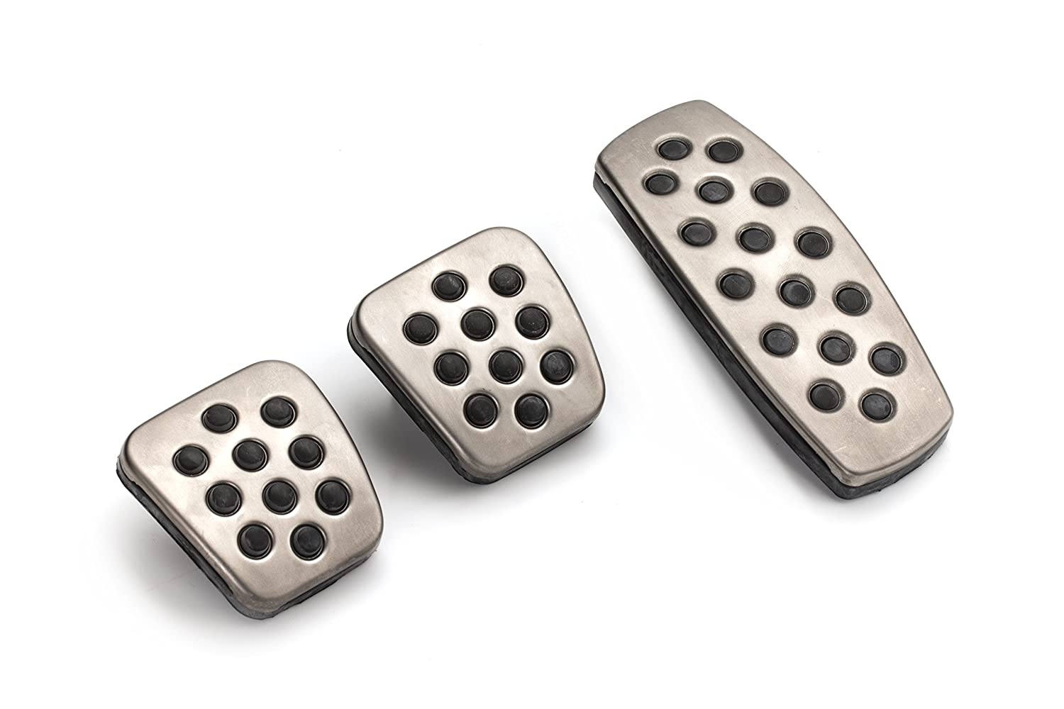 GM Accessories 13301696 Pedal Covers in Stainless Steel and Black General Motors